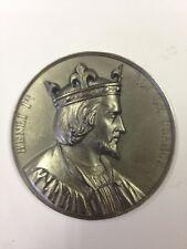 Henri Ier - Médaille en etain signée Caqué 1838 - Série Rois de France