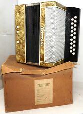 Akkordeon Klingenthal Kinder Ziehharmonika Corona DDR 1959 OVP funktionstüchtig
