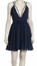 NWT $69 Jump Apparel Blue Navy Sheath Fit Flare Strappy Dress Size: 3/4