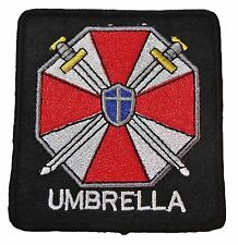 """Resident Evil Umbrella Corporation Crossed Swords 3"""" Wide Embroidered Patch"""