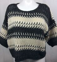 Victoria's Secret Ladies Chunky Cable Knit Acrylic/Wool/Alpaca Sweater Sz L   4D
