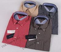 NEW TOMMY HILFIGER MEN'S LONG SLEEVE PLAID DRESS CASUAL SHIRT
