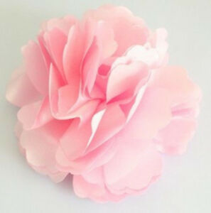 Details about  New Ladies Satin Peony Flower Hair Clip Hairpin Brooch