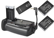 Vertical Shutter Battery Grip for Canon EOS 100D SL1 Camera +2x LP-E12 +Remote