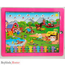 Farm Y-pad Computer Tablet Learning English Education Toy Gift for Kids PINK NEW