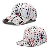Fashion Cool Poker Hip Hop Adjustable Cap Sport Baseball Snapback Playing Cards
