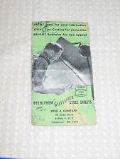 Vintage Bethlehem Galvanized Steel Sheets Ad Card