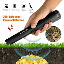 Black Handheld Alarm Pinpointer Pointer Probe Metal Detector Automatic Tuning