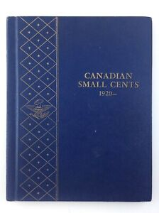 Canadian Small Cents 1920 to Date Whitman Blue No. 9501 Empty Coin Book T581