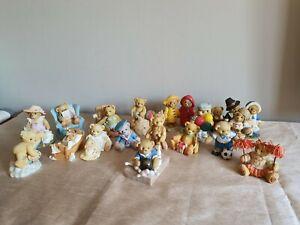 Bundle of Cherished Teddies ornaments x 17