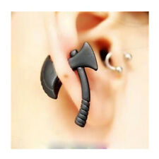 Mens Punk Gothic Black Stereo Axe Puncture Ear Nail Pierced Stud Earring 1pc