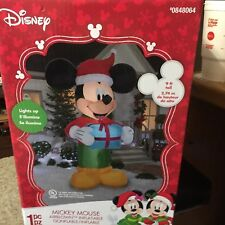 MICKEY MOUSE DISNEY 9 FOOT INFLATABLE CHRISTMAS BLOWUP LIGHTED AIRBLOWN INFLATAB