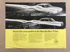 1974 Mercedes Benz S Class original sales Leaflet