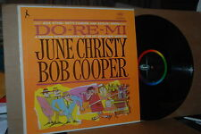 JUNE CHRISTY & BOB COOPER: DO-RE-MI; 1961 CAPITOL 1586 MINT- LP; NOT ON CD