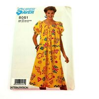 Dress Muu Muu Sewing Pattern Uncut Bust 38 40 42 Factory Fold Pullover Easy 02