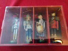 Macy's Holiday Lane 4 Wooden Wizard of Oz Nutcracker Ornaments Tin Man Etc New