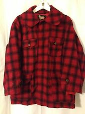 Vintage 1950's/1960's Woolrich Wool Red Plaid Hunting Jacket Size 44/Large