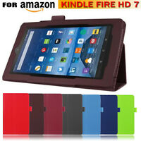 New Fold Folio Stand Leather Cover Case For Amazon Kindle Fire HD 7 Inch Tablet