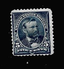 US  1897 Sc# 281 - 5 cent  GRANT  Mint VLH - Vivid Color