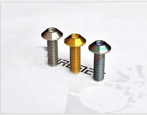 5pcs M6 x12/20mm M8 x25  Titanium Disc Fixed Hexagon Socket Head Cap Screw Bolt