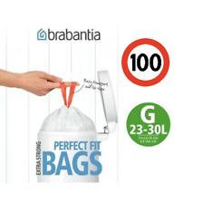 100 Genuine Brabantia Type G Size 23-30L 30L Litre Bin Liners Bags Plastic