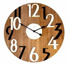 Black and White Numbered Wooden Clock