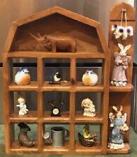Wood Farm House Shadow Box