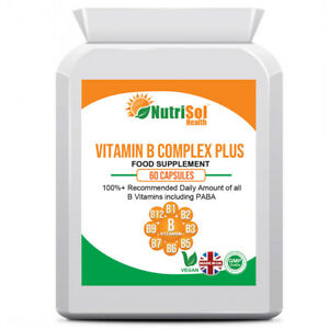 Vitamin B Complex Plus 100%+ NRV 60 Capsule, Fatigue, Hair,  Immune Health