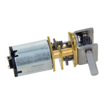 1Pcs DC 6/12V Worm Gear Electric Motor 9-42RPM Torque GW12GA Single 3mm D-Shaft