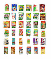 BREAKFAST CEREALS Variety Kelloggs NESTLE Cheerios Cookie Crisp Frosties Nesquik