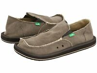 Men's Shoes Sanuk VAGABOND Slip On Canvas Sidewalk Surfers SMF1001 BROWN