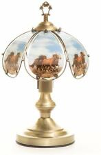Horse Theme touch Lamp 14 inch brush gold