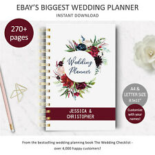 DIY Wedding Planner, Printable Wedding Checklist, Digital download, Bride gift