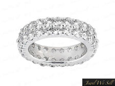 1.60Ct Round Diamond 2Row Shared Wedding Eternity Band Ring Solid 14k Gold F VS2