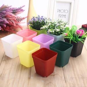 7 Colors Plastic Flower Pots Plant Grow Thicken Mini Square Flower Pot