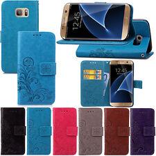 Flip PU Leder Tasche Schutz Hülle Bumper Case Cover Etui Wallet Für Samsung SYC