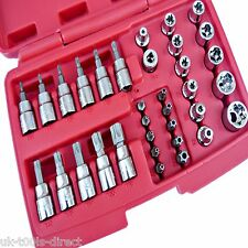"34pc Security Torx, Star & E Socket Set 3/8"" Drive Tamper Proof Cr-v Steel"