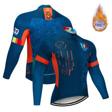 Men's Winter MTB Cycling Fleece Jersey Bike Thermal Jackets Long Sleeve Outfits