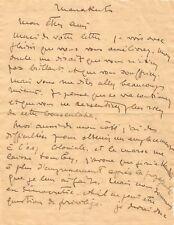 Jacques MAJORELLE / Lettre autographe signée sur la Maroc et sa peinture.