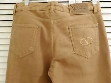 VALENTINO ROMA 30 x 33 Tan Camel Cotton Straight Leg Jeans Sz IT 44 US 8