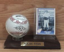 Nolan Ryan Little League All Star 1991 Collectible Card and Autographed Baseball