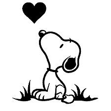 "Snoopy #10 Decal Cartoon Vinyl Sticker Macbook Laptop Car Window 4"" BLACK"