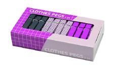 RetroKitchen Laundry Pegs 24 Pink & Mauve Set