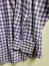 Bullock & Jones Dress Shirt XL Purple Gingham