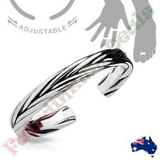Silver Rhodium Plated Double Braided Adjustable Toe Ring/Mid Ring