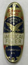 NOS vintage bicycle Schwinn Built AMERICAN FLYER Head BADGE tag Phantom Panther