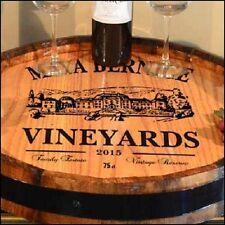 Maya Vineyards - Personalized Quarter Barrel Lazy Susan, Home or Bar