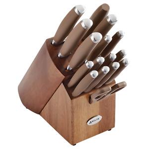 Anolon SureGrip 17 Piece Bronze Knife Set
