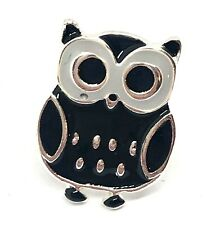 Mini Cute Black Owl Pin Brooch