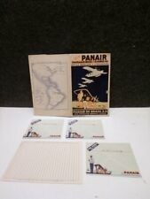 1935 PAN AM PANAIR AIRLINES ART DECO POSTER STYLE COVER PASSENGER TRAVEL KIT